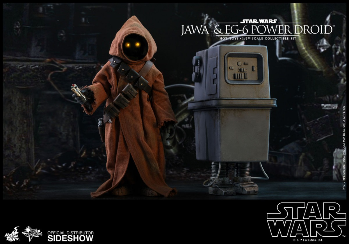 Hot Toys Star Wars: A New Hope Movie Masterpiece Series Jawa & EG-6 Power Droid collectible figure set revealed