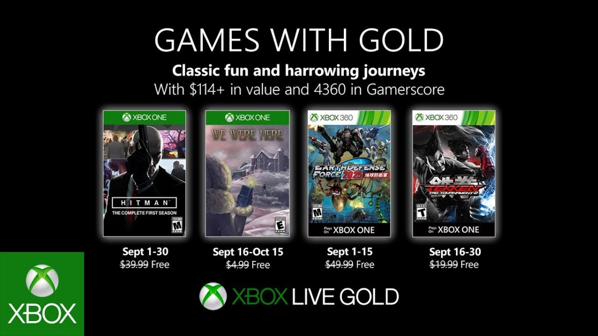 Xbox Games with Gold for September 2019 revealed