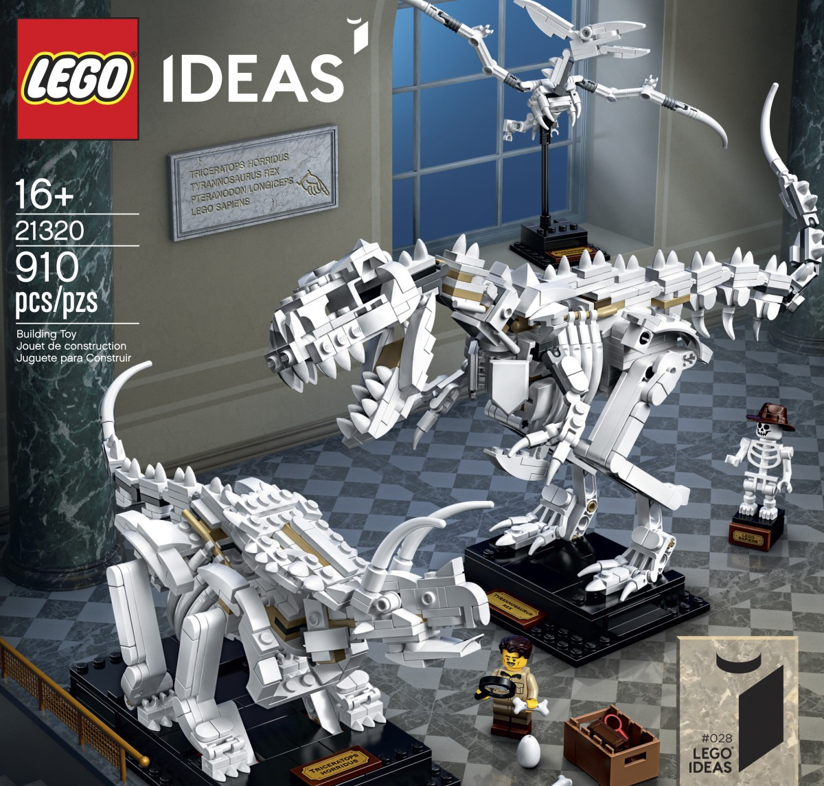 LEGO Ideas Dinosaur Fossils set officially unveiled