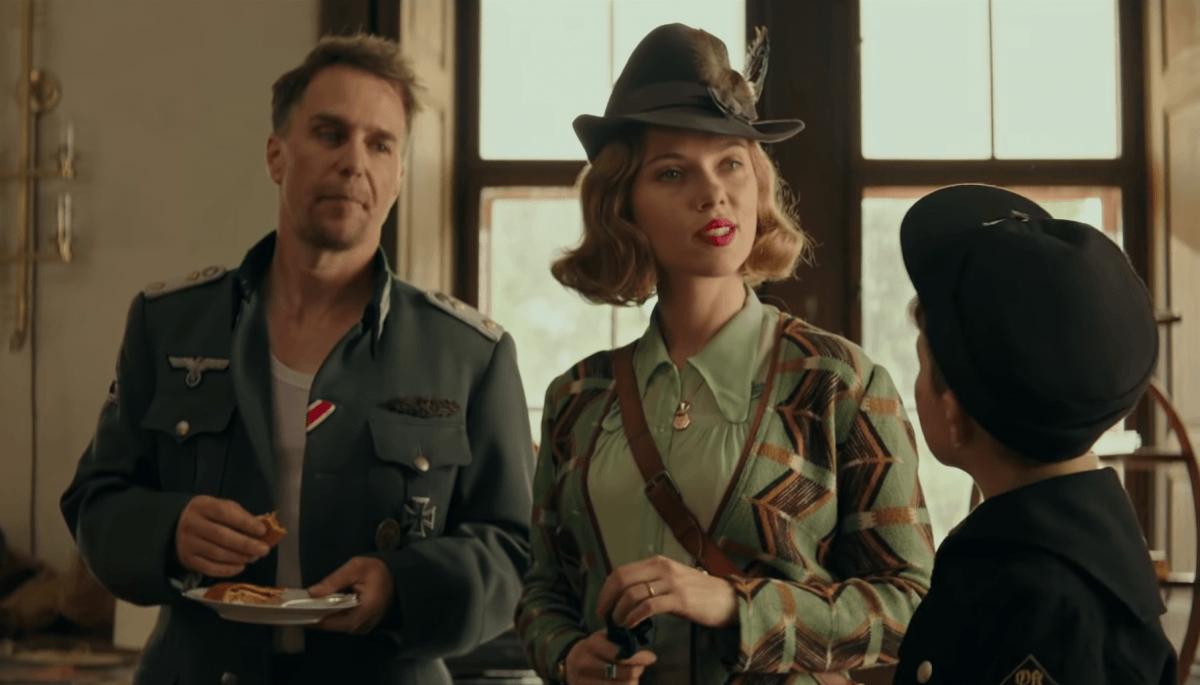 Jojo Rabbit clip introduces Scarlett Johansson's Frau Betzler and Sam Rockwell's Captain Klenzendorf