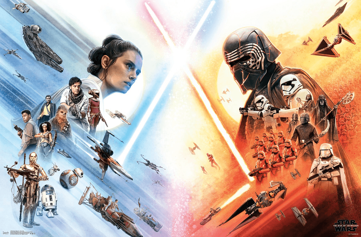 Heroes And Villains Face Off On Star Wars The Rise Of Skywalker Posters