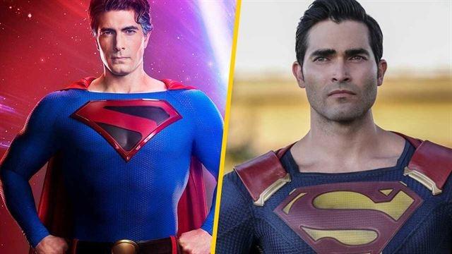 Brandon Routh's Superman meets Tyler Hoechlin's Superman in Crisis on Infinite Earths photo