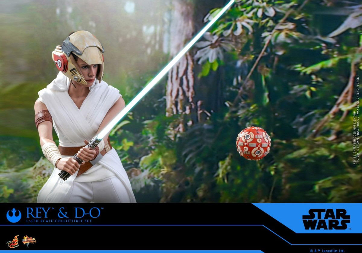 Star Wars: The Rise of Skywalker Rey and D-O collectible set revealed by Hot Toys