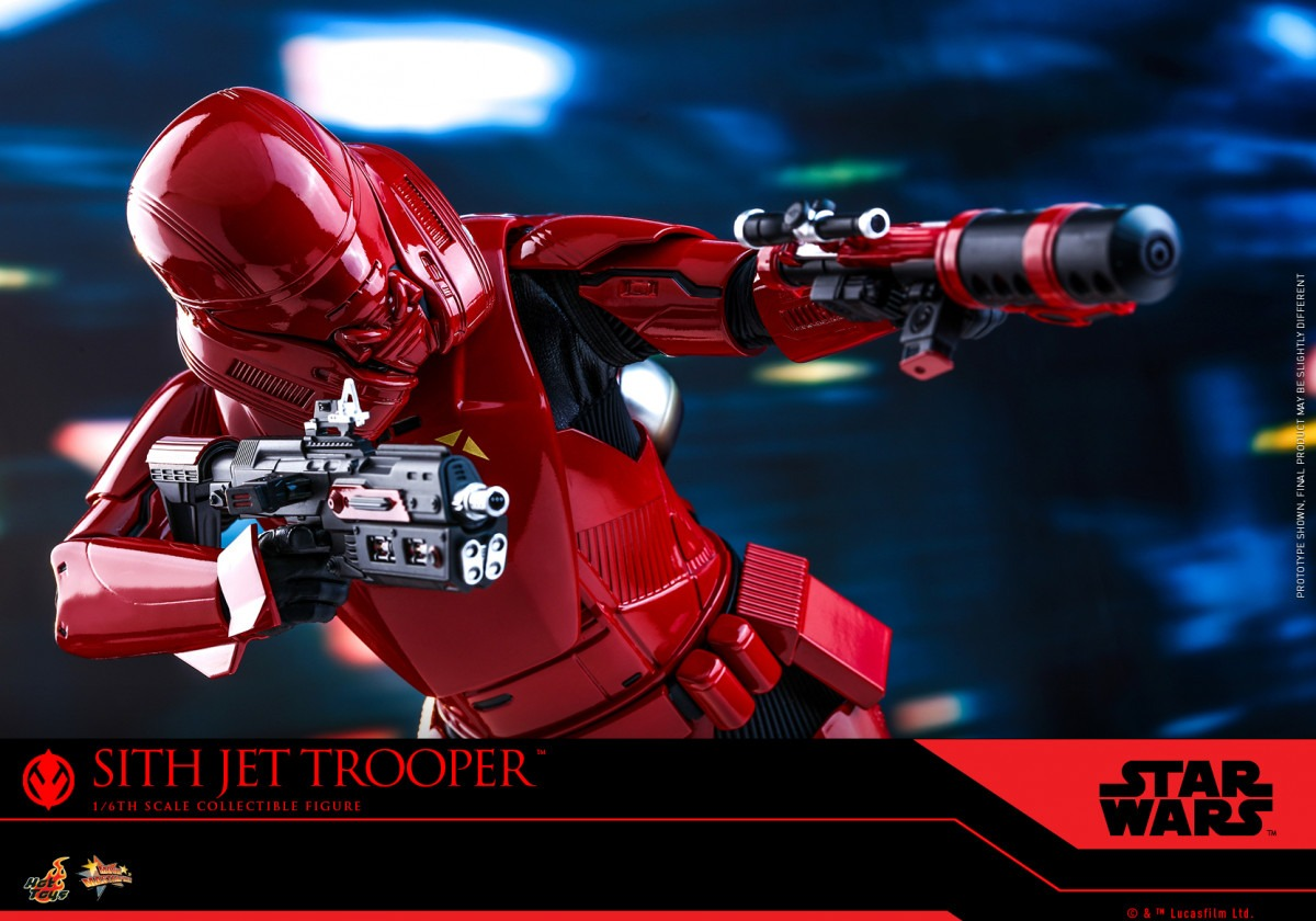 Hot Toys' Sith Jet Trooper Movie Masterpiece Series figure from Star Wars: The Rise of Skywalker revealed