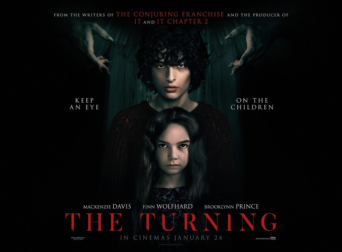 New poster for horror The Turning featuring Finn Wolfhard and Brooklynn Prince