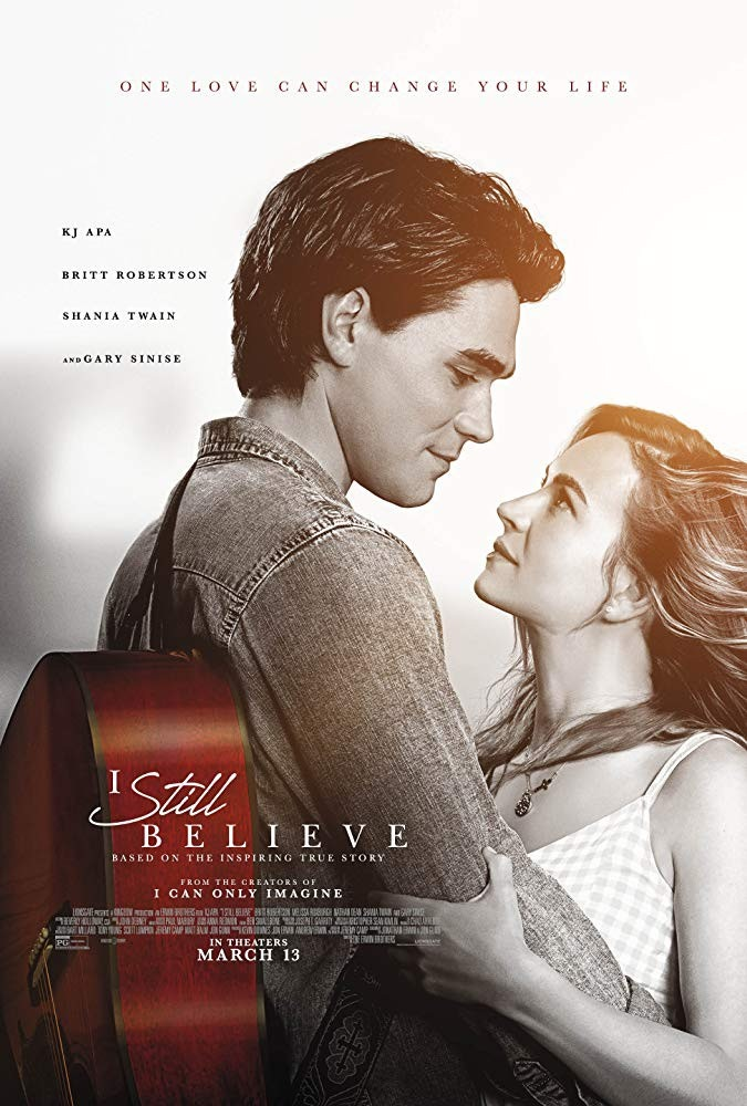 New trailer for I Still Believe starring KJ Apa, Britt Robertson, Gary Sinise and Shania Twain