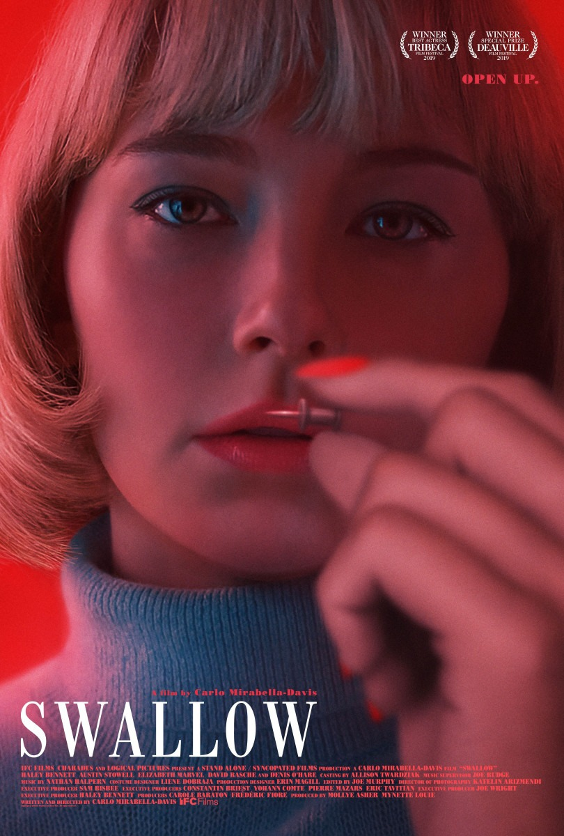 Haley Bennett develops a dangerous habit in trailer for Swallow