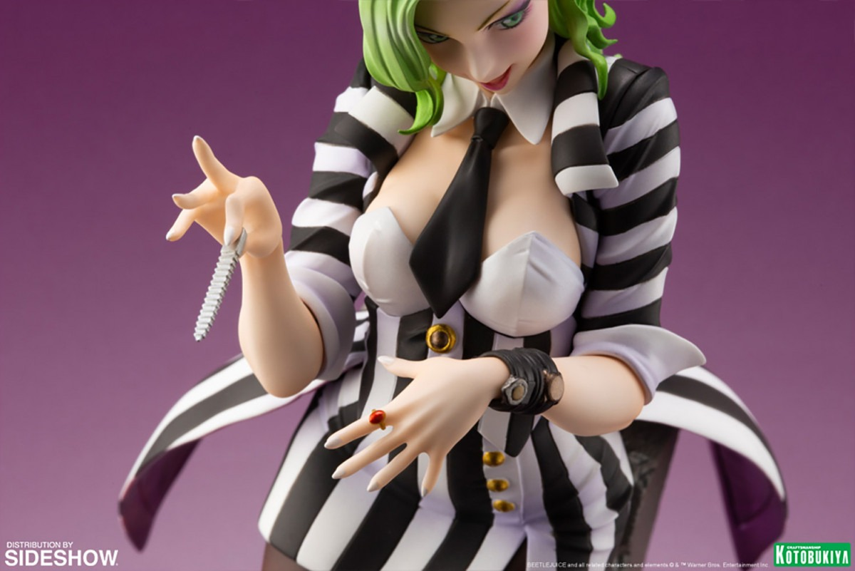 Kotobukiya reimagines Beetlejuice for its Bishoujo horror series