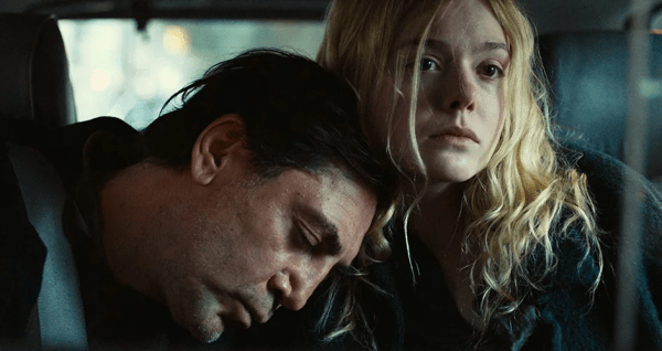 Javier-Bardem-and-Elle-Fanning-in-The-Roads-Not-Taken-600x318