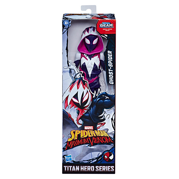 SPIDER-MAN-MAXIMUM-VENOM-TITAN-HERO-GHOST-SPIDER-Figure-in-pck