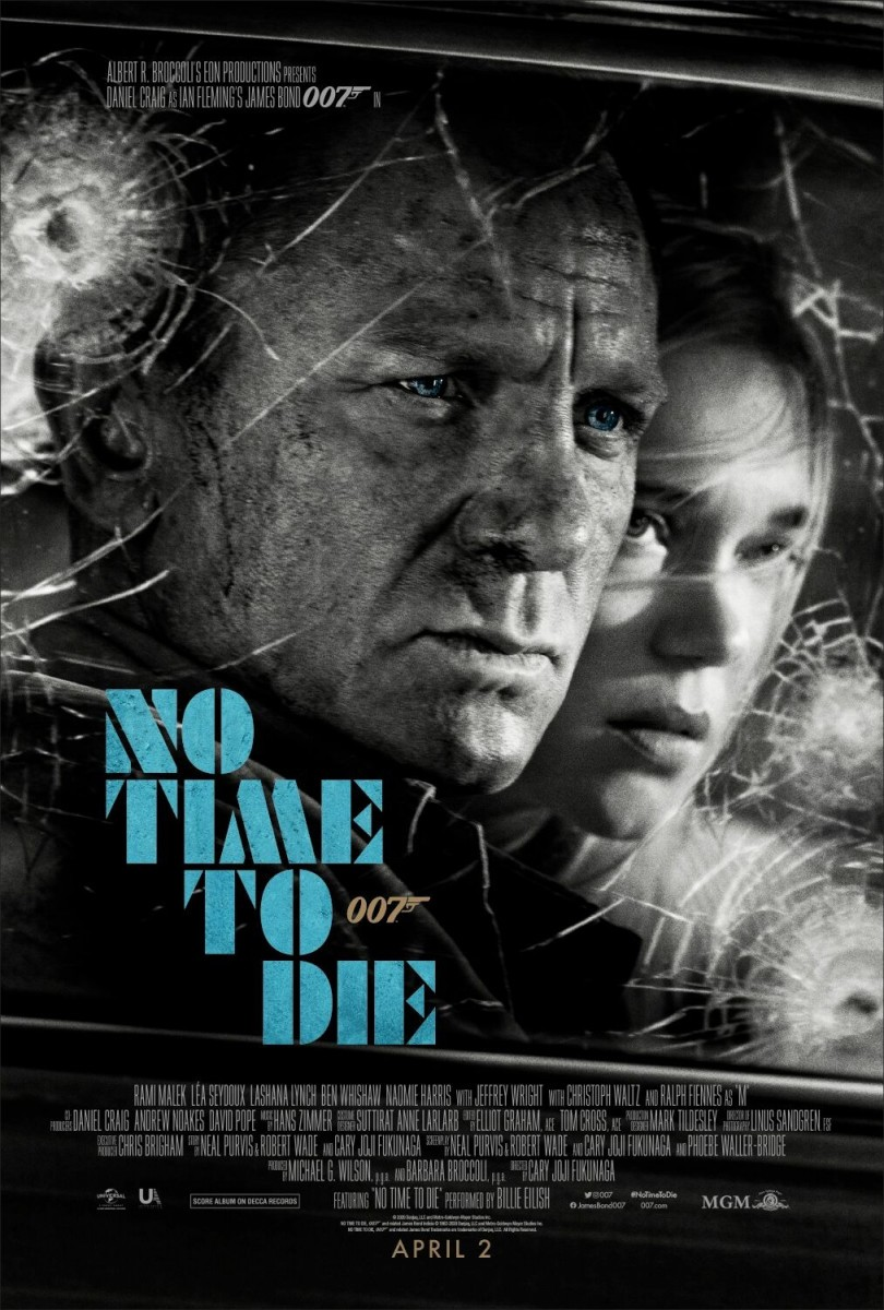 No Time To Die poster features James Bond and Madeleine Swann