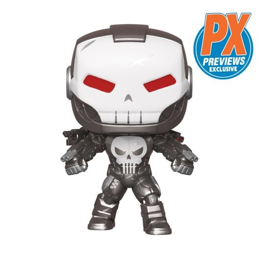 The Punisher suits up as War Machine for PREVIEWS Exclusive Funko Pop!