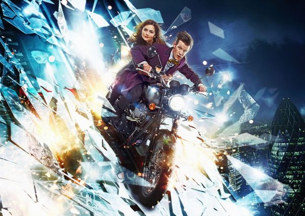 doctor-who-series-7-matt-smith-jenna-coleman-motorbike-shard-bells-of-saint-john-steven-moffat-600x424