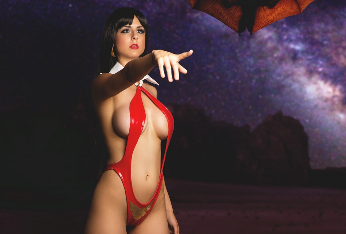 Vampirella turns up the heat this summer with two graphic novels