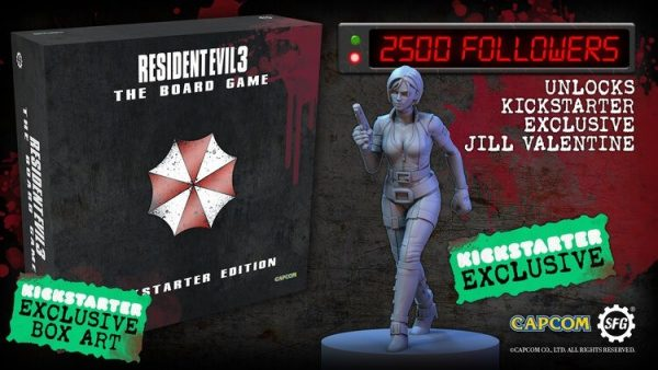 Resident Evil 3: The Board Game coming to Kickstarter