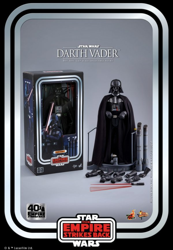 Darth Vader Star Wars The Empire Strikes Back 40th Anniversary Movie Masterpiece Series Figure Revealed By Hot Toys