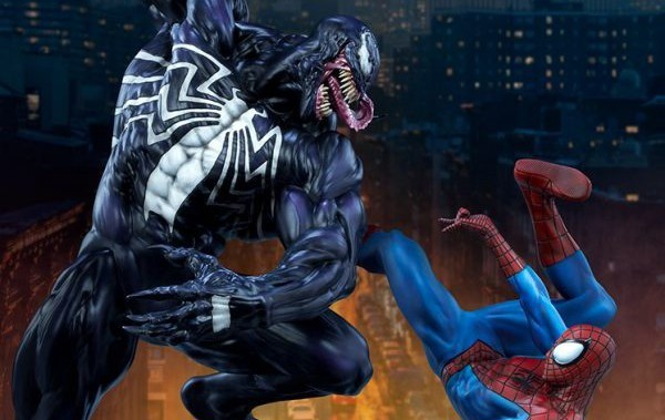Spider-Man battles Venom with Sideshow's latest Marvel maquette