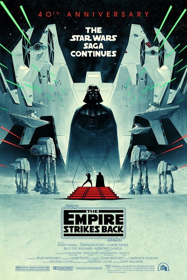 Star Wars Episode V The Empire Strikes Back Gets 40th Anniversary Artwork
