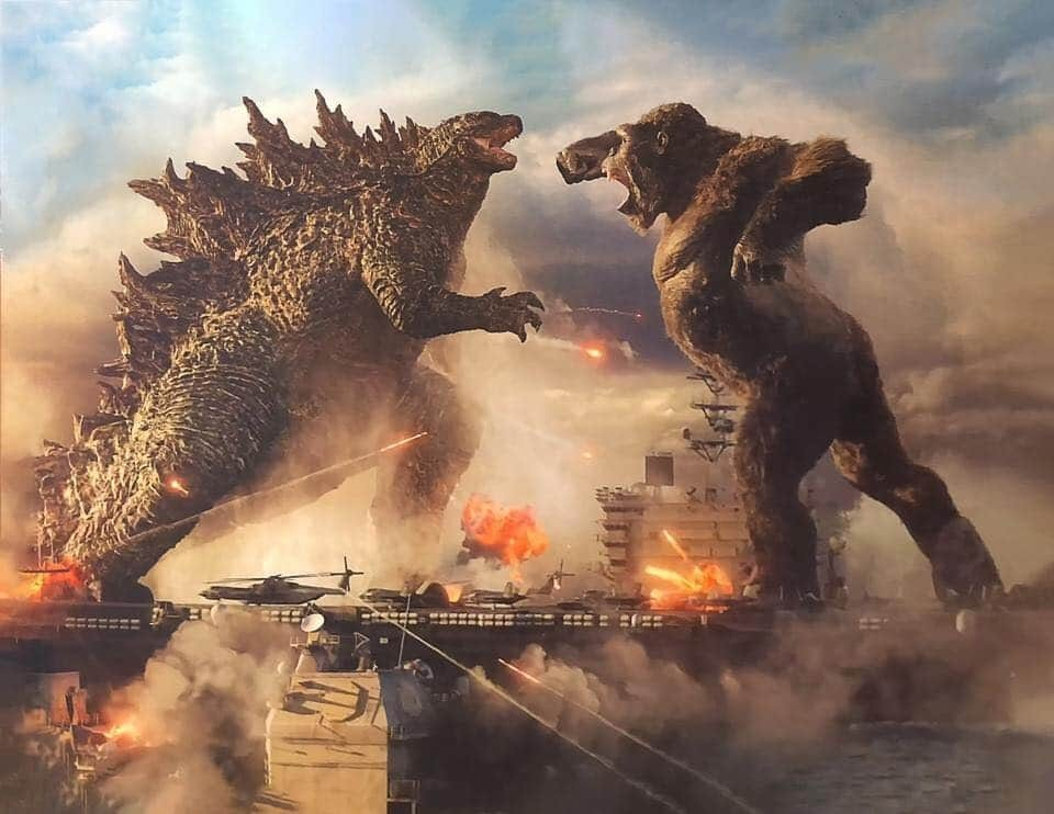 Godzilla vs. Kong promo art teases a battle of epic proportions