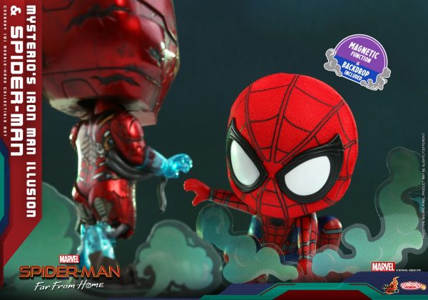 Hot-Toys-SMFFH-Mysterios-Iron-Man-Illusion-and-Spider-Man-Cosbaby_PR4-600x420