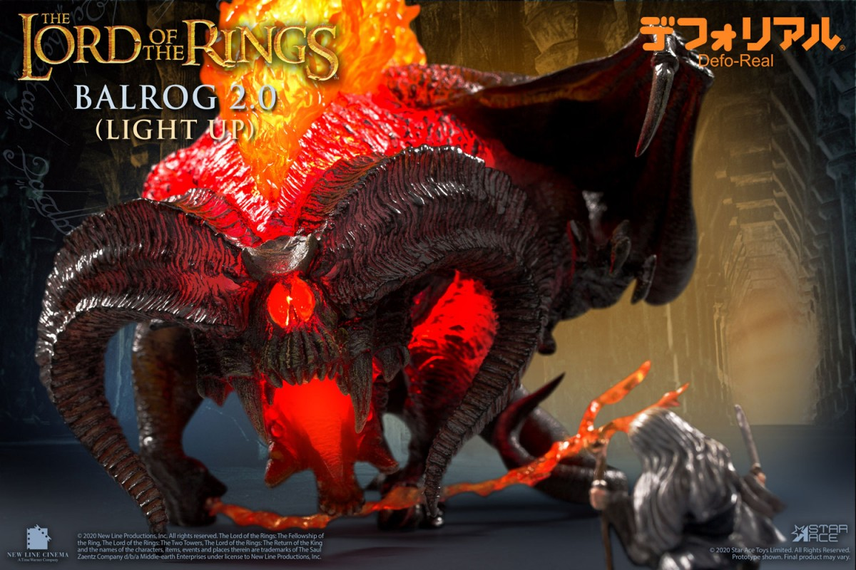 The Balrog from The Lord of the Rings gets the Defo-Real treatment from Star Ace Toys