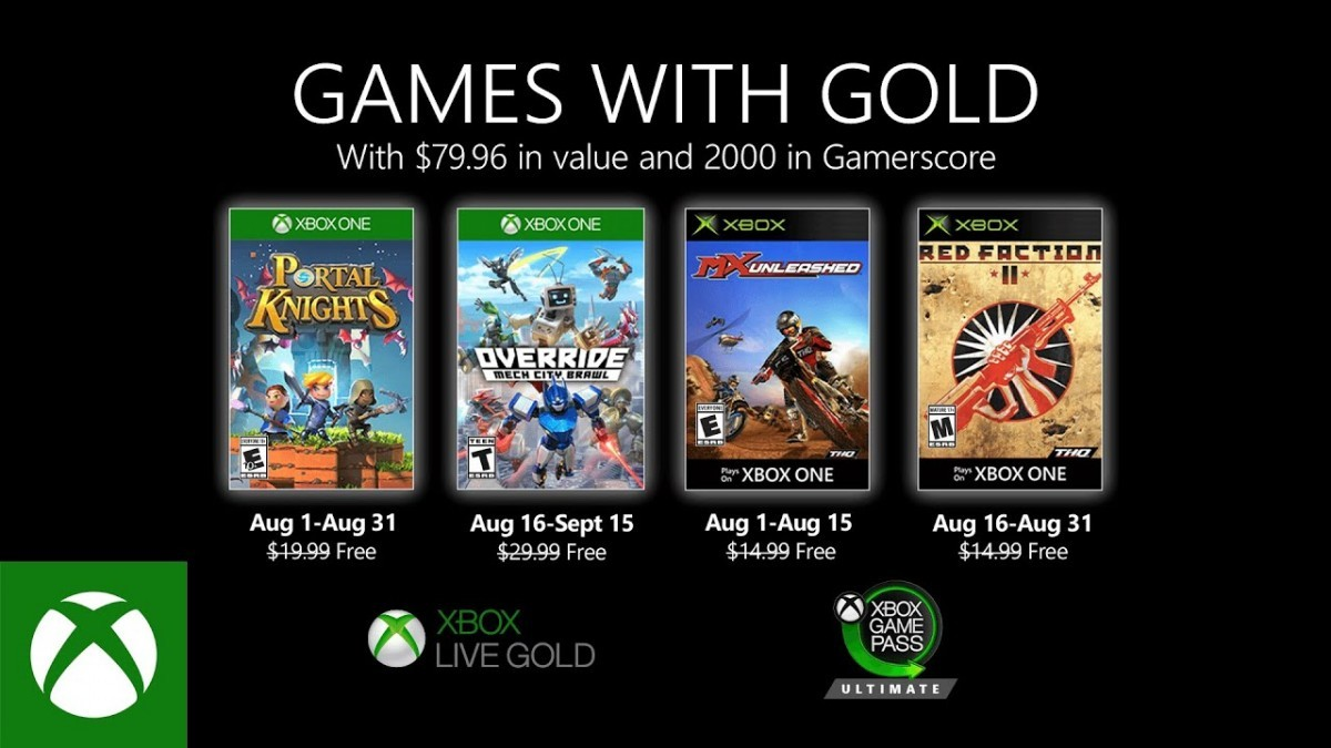 Xbox Games With Gold Oktober 2021