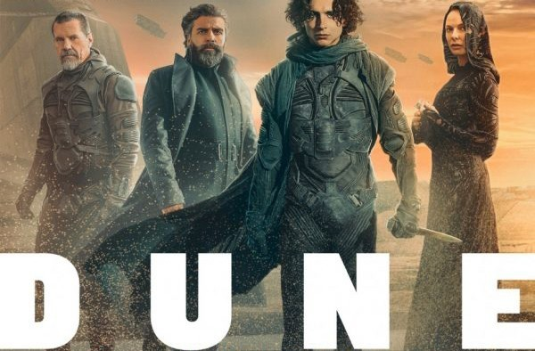 Dune magazine covers feature House Atreides and The Freman, along with a Sandworm tease