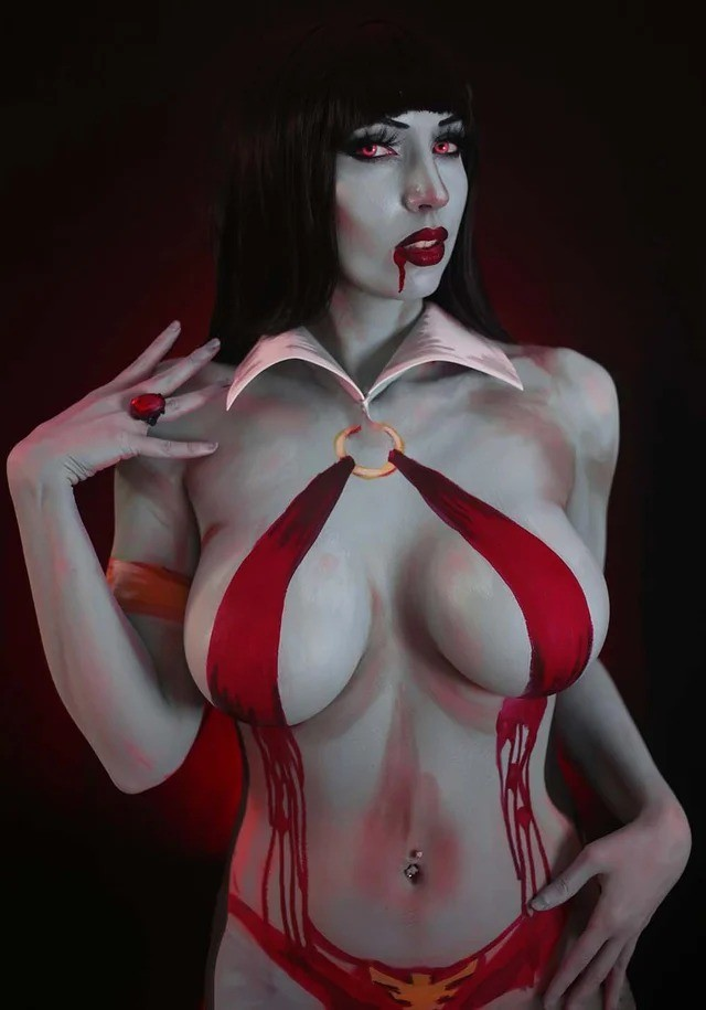 Dynamite's Vampirella, Red Sonja, Dejah Thoris and Bettie Page October Cosplay covers revealed