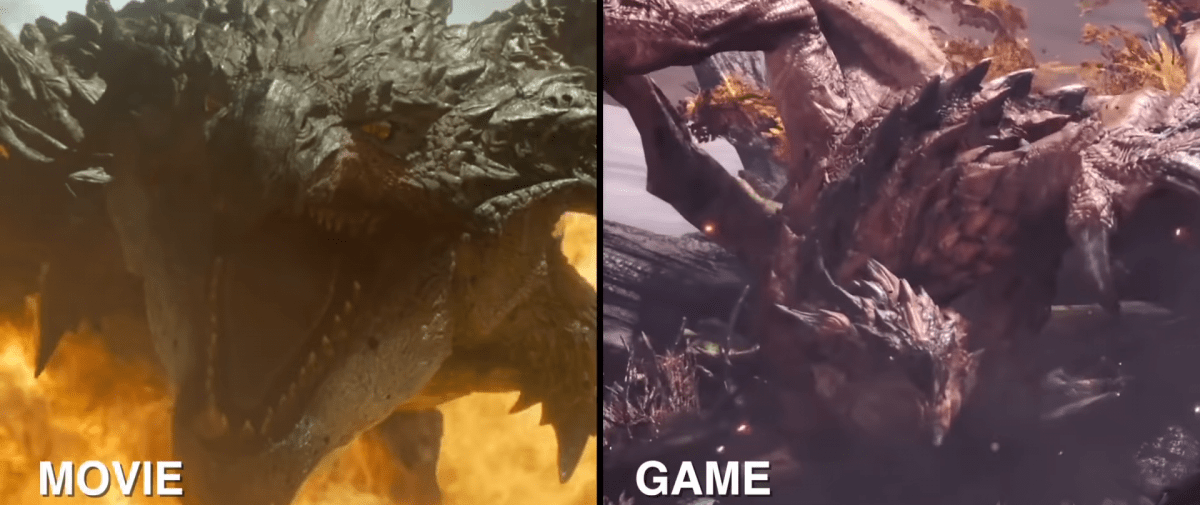 Monster Hunter featurette compares the movie and video game creature designs