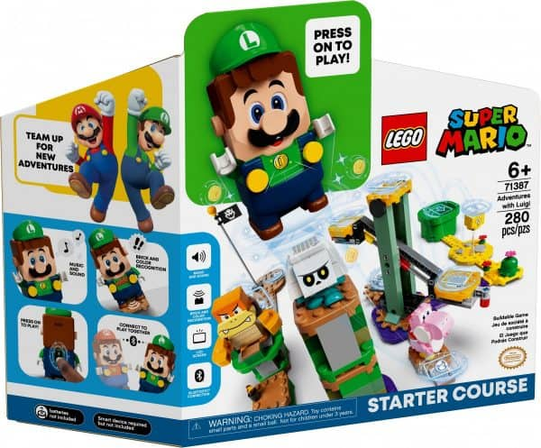 Luigi is coming to the Super Mario theme from LEGO